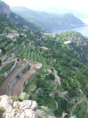 Küste mit Terrassen - Mallorca, Terrassen, Spanien, Landwirtschaft, Terrassenbau, Mittelmeer, Küste, Agrarwirtschaft, Erosion, Landnutzung
