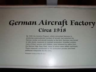 German Airkraft Factory - englischerText - Text, Fabrik, Factory, Airkraft, Flugzeugbau, Herstellung, Geschichte, Arbeit, Arbeitsort, herstellen