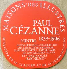 Atelier Paul Cézanne - Frankreich, Paul Cézanne, Maler, peintre, Aix-en-Provence, panneau, Schild