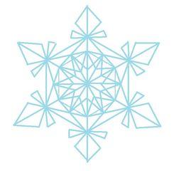 Schneestern #7 - Schneeflocke, Schneekristalle, Eiskristalle, Schneestern, schneien, Winter, winterlich, Schnee, kalt, Eis, Grafik, Einzahl, Singular, geometrische Formen, Dreieck, Dreiecke, Eiskristall, Schneekristall
