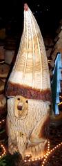 Holzskulptur #3 - Holz, Skulptur, Figur, Kunst, Handwerk, Kunsthandwerk, sägen, schnitzen, Zwerg, Gartenzwerg, Gnom
