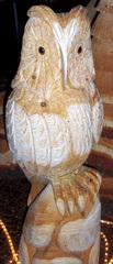 Holzskulptur #4 - Holz, Skulptur, Figur, Kunst, Handwerk, Kunsthandwerk, sägen, schnitzen, Eule, Uhu