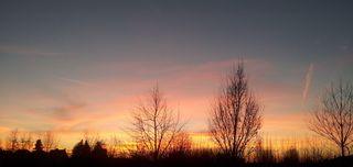 Sonnenuntergang #1 - Sonnenuntergang, Abendstimmung, Meditation, Schreibanlass, Abendhimmel, Abendrot, Lichtstreuung, Optik, Physik