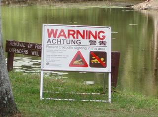 Krokodil-Warnung - Australien, Krokodil, Crocodile, Warnung, Warnschild, warning