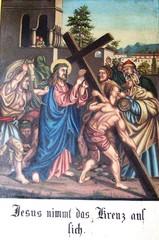Kreuzweg II - Religion, Kreuzweg, Bilderzyklus, Andacht, Jesus, Kreuz, katholisch, Station, Kreuzwegstation, Leidensweg, Passion