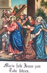 Kreuzweg IV - Religion, Kreuzweg, Bilderzyklus, Andacht, Jesus, Kreuz, katholisch, Station, Kreuzwegstation, Leidensweg, Passion