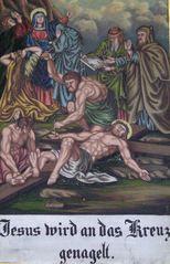 Kreuzweg XI - Religion, Kreuzweg, Bilderzyklus, Andacht, Jesus, Kreuz, katholisch, Station, Kreuzwegstation, Leidensweg, Passion