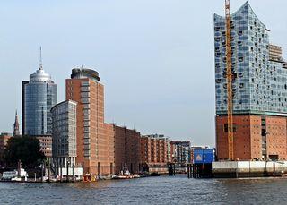 Hamburg Elbphilharmonie - Hamburg, Elbphilharmonie, Hansestadt, Hafenstadt, Elbe, Hafen, Kehrwieder, Baustelle, Architektur, Perspektive