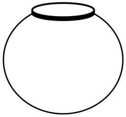 Vase - Vase, Blumenvase, Glas, Porzellan, Blumen, rund, Behälter, Volumen, Wasser, Zeichnung, Kugelvase, Kugel, Mathematik, Anlaut V
