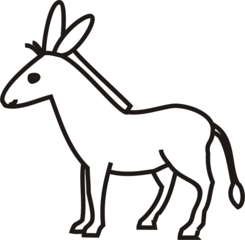 Esel - Esel, Haustier, grau, Anlaut E
