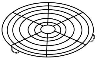 Kuchenrost rund - Kuchenrost, Küchenrost, Kuchengitter, Küchengerät, Küchenhelfer, Haushalt, Küche, kochen, backen, Zeichnung, abkühlen, Gitter, rund
