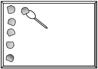 Kekse backen - Kuchenblech, Backblech, Teig, Portionen, auffüllen, Löffel, Häufchen, backen, Keks, Kekse, Plätzchen, Küche, Hausarbeit, Zeichnung, portionieren, Bäckerei, Weihnachtsbäckerei, Vorgangsbeschreibung