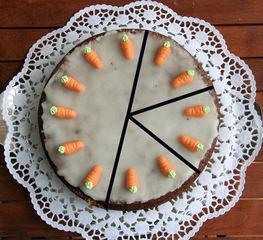 Torte teilen #2 - Kuchen, Torte, Tortenstück, teilen, Teil, Teile, Hälfte, Sechstel, Bruchrechnen, rechnen, Bruchteil, Brüche, drei, halbieren, vergleichen, kürzen, erweitern, Winkel