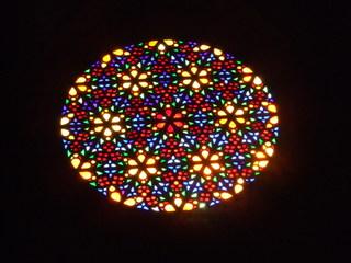 Rosette - Kirche, Glasfenster, Rosette, Kathedrale, Palma, Mallorca, Spanien, sakrale Kunst, Fensterrose, Fenster, Glas, bunt