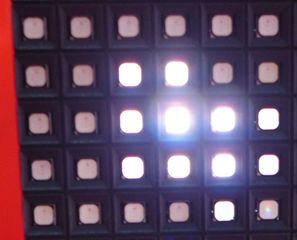 LED-Anzeigetafel - Ausschnitt - Videoleinwand, LED, Videoleinwand, Großbildleinwand, Videowall, LED-Wand, LEDwall, Videotechnik