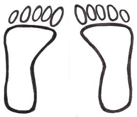Füße, Fußspur - Fuß, Füße, Fußspur, Fußabdruck, Schritte, Weg, Religion, Ethik