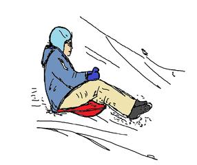 Rodeln - rodeln, Sport, Wintersport, Schnee, bewegen, Rodler, Rodel, Schlitten, Winter, Sport, Sportart