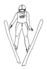 Skispringen - Skispringen, Skifliegen, springen, fliegen, Sport, Sportart, Winter, Wintersportart, Winter, Schnee, Eis, olympisch