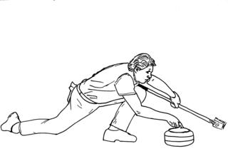 Curling sw - Sport, Sportart, Winter, Wintersportart, Winter, Curl, Curling, Eis, olympisch, Eisstockschießen, Präzisionssportart, Eisstock, Besen, Steine, rocks