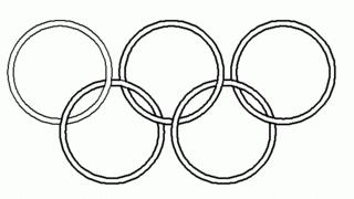 Symbol Olympische Ringe 3 sw - olympisch, Ringe, Olympia, Anlaut O, fünf, Ring, Symbol