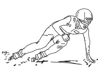 Shorttrack  - Wintersport, Sportart, Shorttrack, Läufer, Läuferin, laufen, schnell, Eisschnelllauf, Eis, rutschen, Winter