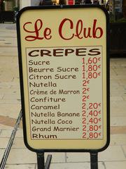 crêpes - civilisation, crêpe, panneau, Aufsteller