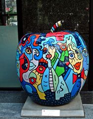 Skulptur Apfel - Apple - New York, USA, Kunst, Skulptur, Apfel, Apple, big, groß, bunt, Art, Manhattan