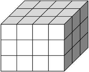 Quader aus vielen kleinen Würfeln gebildet (36) - Körper, Quader, Einheitswürfel, Geometrie, Rauminhalt, Volumen, Oberfläche, Fläche, Schrägbild, Schrägriss, Kubikzentimeter