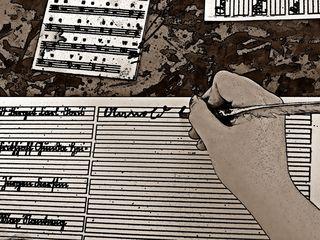 Schreiben farbig - Schreibhaltung, schreiben, Papier, Linie, Lineatur, Sütterlin, alt, Schrift, Schönschrift, Schreibvorlage