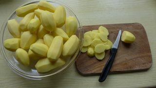 Kartoffelauflauf #1 - Kartoffelauflauf, Kartoffel, Auflauf, schneiden, Kartoffelgratin