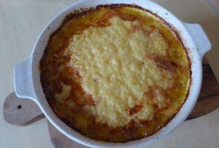 Kartoffelauflauf #5 - Kartoffelauflauf, Kartoffelgratin, Käse, Emmentaler, überbacken, Gratin