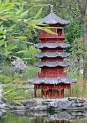 Pagode - Pagode, Pagoden, Bauwerk, Architektur, Kultur, rot