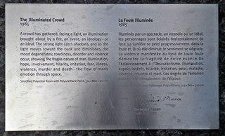 The Illuminated Crowd #5 - Innenschrift zur Skulptur - Kanada, Canada, Montreal, Innenschrift, Erklärung, englisch, französisch, Kunst, Übersetzung, übersetzen, Erklärung