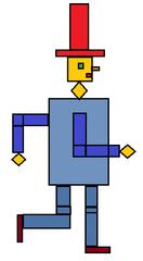 Herr Viereck farbig - Geometrie, Vierecke, Viereck, Form, Formen, Fläche, Flächen, Ebene, Figur