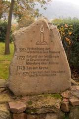 Waldenserkirche Gewissenruh #4 - Waldenser, Hugenotten, Protestantismus, Kirche, Glaubensflüchtlinge, Wappen, Wahlspruch
