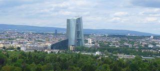 Europäische Zentralbank - EZB, Europäische Zentralbank, Frankfurt/Main, Gebäude, Turm, Hochhaus, Skyline