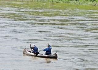 Kanusport - Kanu, Boot, zwei, Sport, Freizeit, Paddel, Wasser, bewegen, Bewegung, Natur, schwimmen, rudern, Wassersport