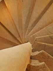 Wendeltreppe - Aufgang, Abgang, Treppe, Struktur, Detail, Stein, Spindeltreppe, Stufen, Draufsicht