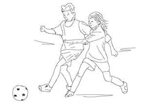 Fußball spielen sw - Fußball, spielen, Spiel, Ball, Ballsportart, WM, EM, Meisterschaft, Fuß, Kinder, Sport, laufen, schießen, Champion, Ballspiel