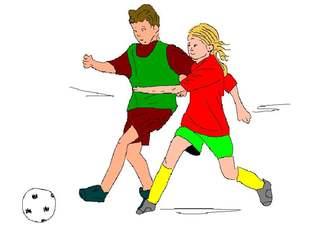 Fußball spielen - Fußball, spielen, Spiel, Ball, Ballsportart, WM, EM, Meisterschaft, Fuß, Kinder, Sport, laufen, schießen, Champion, Ballspiel