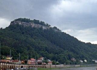 Festung Königstein - Bastei, Sachsen, Elbsandsteingebirge, Elbe, Sandstein, Natur, Königstein, Festung, Burg, Gebirge, Mauer, Tafelberg, Felsplatau