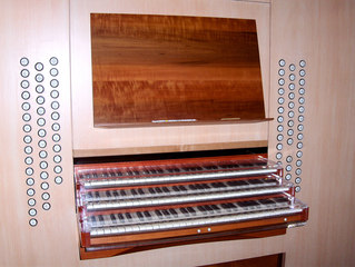 Michaeliskirche Hildesheim Orgel #1 - Orgel, Kirchenorgel, Tastatur, Manual, Register, Kirche, Spieltisch
