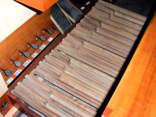 Michaeliskirche Hildesheim Orgel #3 - Orgel, Kirchenorgel, Tastatur, Register, Pedal, Kirche, Spieltisch