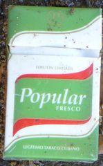Zigarettenschachtel aus Kuba - popular, fresco, tabaco cubano, zigarette, rauchen, fumar