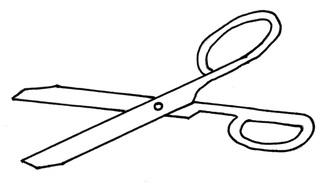 Schere - Schere, schneiden, Klingen, Symmetrie, symmetrisch, scharf, Anlaut Sch