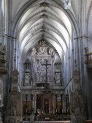 Münster Salem #2 - Münster, Salem, Reichsabtei, Pfarrkrche, katholisch, Gotik, Mittelschiff, Altar