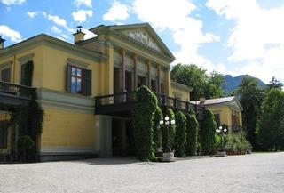 Kaiservilla in Bad Ischl - Kaiservilla, Sommerresidenz, Neoklassizismus, Bad Ischl, Habsburg, Tympanon, Kriegserklärung, Erster Weltkrieg