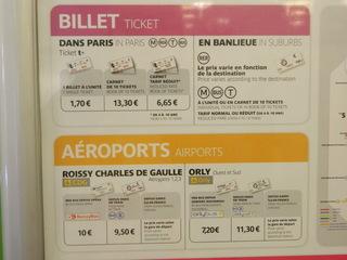 Prix billets Paris - Frankreich, Paris, métro, billet, prix