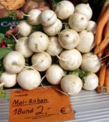 Mairübe - Mairübe, Mairübchen, Nevette, Navet, Gemüse, Teltower Rübchen