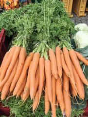Möhren - Möhren, Mohrrüben, Bund, Gemüse, gelbe Rübe, Wurzel, Rüebli, Doldenblütler, Karotten
